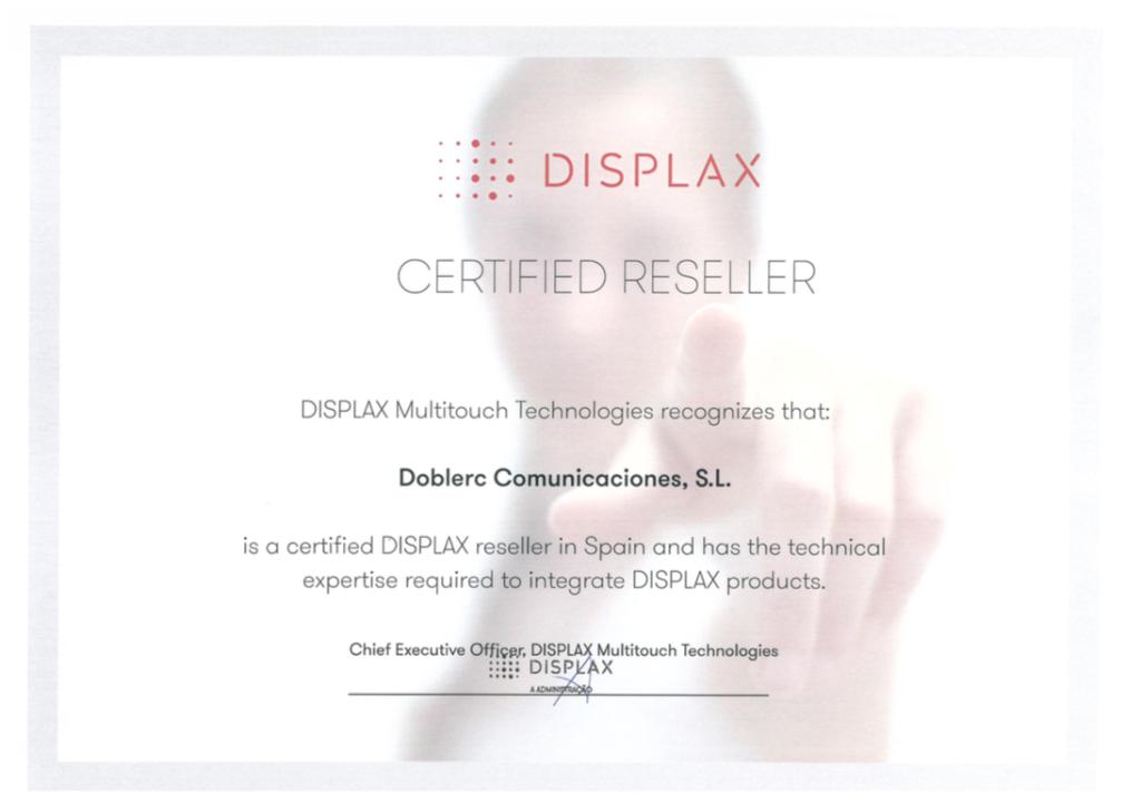 Certificación Displax
